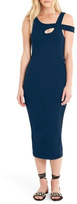 Women's Michael Stars Crossover Strap Midi Dress $88 thestylecure.com