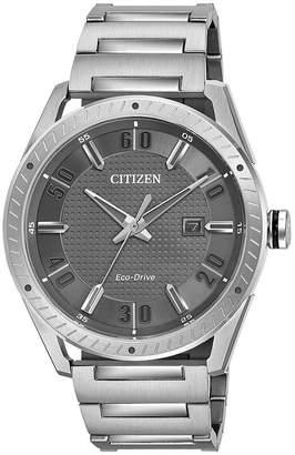 DRIVE FROM CITIZEN ECO-DRIVE Drive from Citizen Mens Silver Tone Bracelet Watch-Bm6991-52h