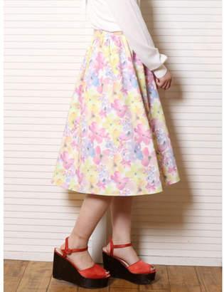 dazzlin (ダズリン) - dazzlin 水彩フラワーミディスカート