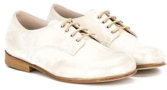 Pépé metallic lace up shoes