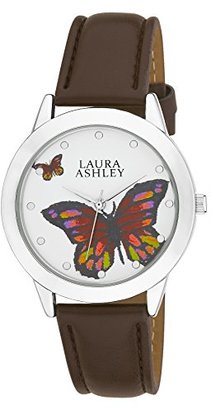 Laura Ashley Women's LA31014SS Analog Display Japanese Quartz Brown Watch $17.75 thestylecure.com