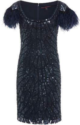 Joanna Mastroianni Cap Sleeve Mini Dress