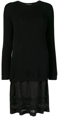 Moschino lace-panelled sweater dress