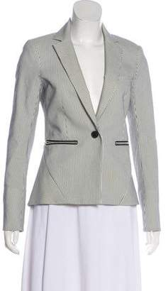 Veronica Beard Pinstriped Structured Blazer