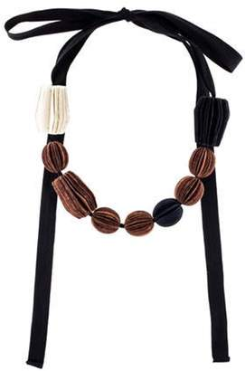 Marni Paper Bead Necklace Black Paper Bead Necklace