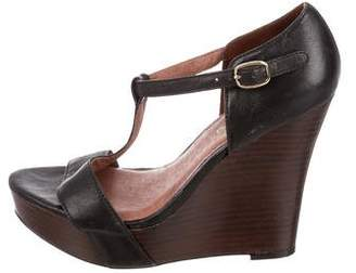 Elizabeth and James Leather Wedge Sandals