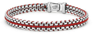 David Yurman 10mm Men's Woven Box Chain Bracelet, Red