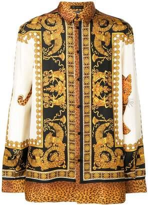 Versace wild leopard barocco shirt