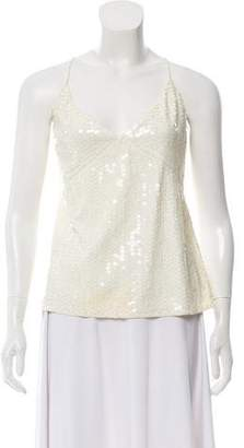 Calvin Klein Collection Sequin Embellished Sleeveless Top w/ Tags