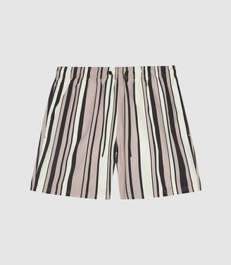 647c171e05d38 Reiss Ace - Striped Swim Shorts in Pink