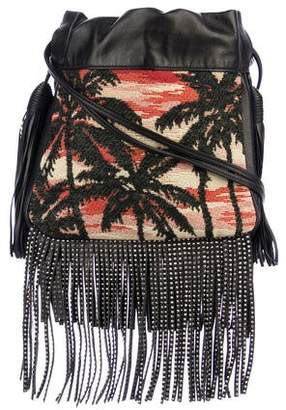 Saint Laurent Helena Small Sunset Fringe Bucket Bag