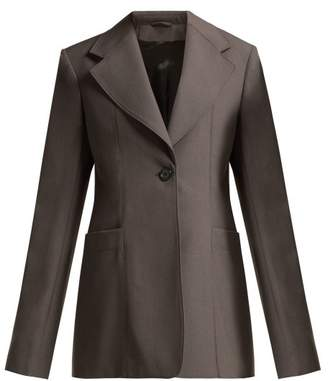 Lemaire - Single Breasted Wool Blazer - Womens - Grey