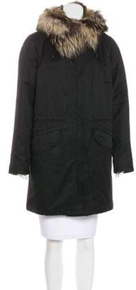 Yves Salomon Army by Fur-Lined Hooded Parka