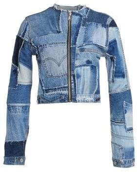 RE/DONE Patchwork Denim Jacket