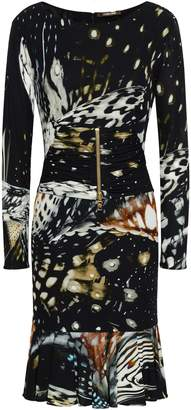 Roberto Cavalli Zip-detailed Printed Crepe Dress