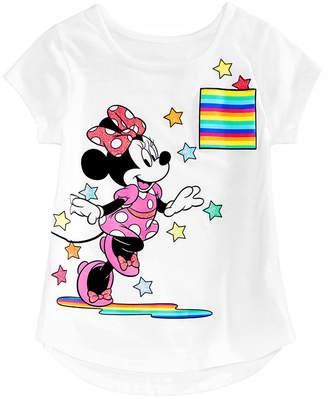 Disney Little Girls Minnie Mouse Starburst Cotton T-Shirt