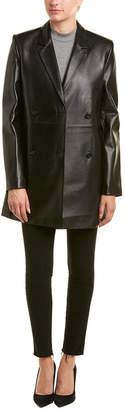 Helmut Lang Long Leather Blazer