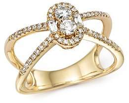 Bloomingdale's Diamond Cluster X Ring in 14K Yellow Gold, .50 ct. t.w. - 100% Exclusive