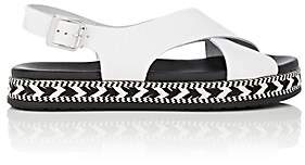 Barneys New York Women's Crisscross-Strap Leather Espadrille Sandals-White