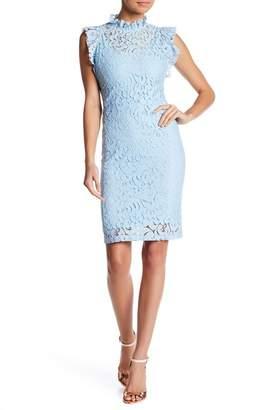 Alexia Admor Cap Sleeve Lace Sheath Dress