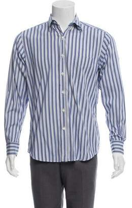 Ralph Lauren Purple Label Striped Casual Shirt blue Striped Casual Shirt