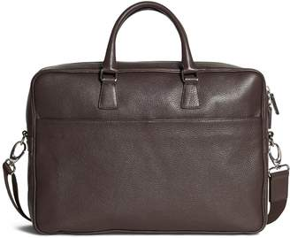 Brooks Brothers Pebble Leather Slim Briefcase