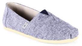 Toms Alpargatas Chambray Slip-On Sneakers