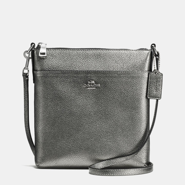 Coach   COACH Coach Courier Crossbody In Polished Pebble Leather