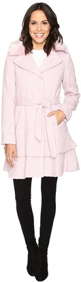 Betsey Johnson Belted Wool Coat $280 thestylecure.com