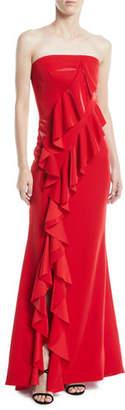 Jay Godfrey JAY X JAYGODFREY Steele Strapless Ruffle A-Line Evening Gown