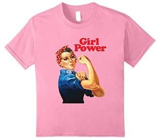 Girl Power T Shirt Women's Feminist Roar Resist Not Silence