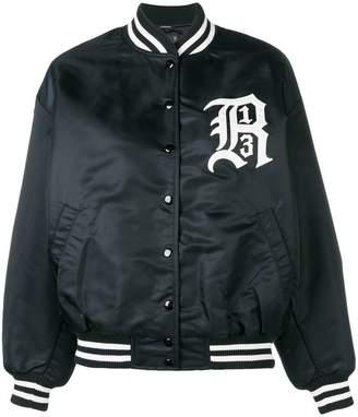 R 13 embroidered logo bomber jacket