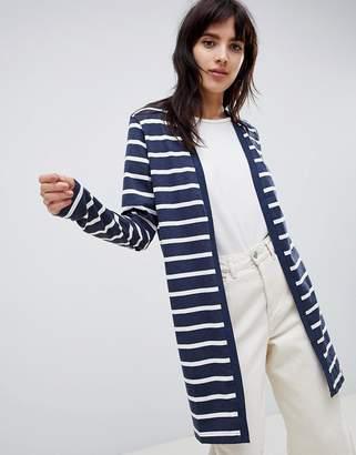 Ichi Stripe Jersey Cardigan