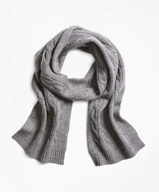 Brooks Brothers Boys Merino Wool Cable Scarf