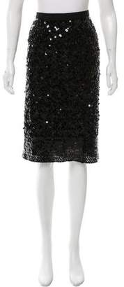 Tory Burch Sequin Embellished Knee-Length Skirt