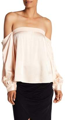 1 STATE 1.State Off the Shoulder Satin Top