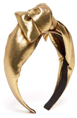 Benoit Missolin Berthe Knotted Headband - Womens - Gold