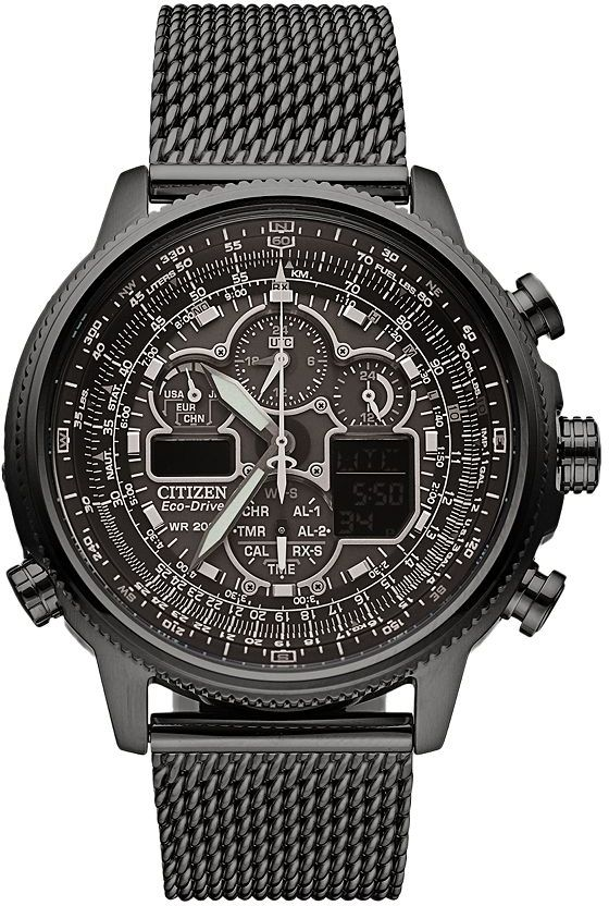 Citizen Citizen Eco-Drive Men's Navihawk A-T Stainless Steel Chronograph Watch