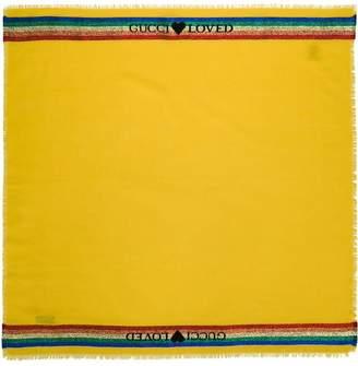 Gucci Kids logo print scarf