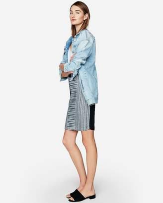 Express Jacquard Knit Pencil Skirt