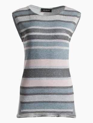 St. John Shimmer Stripe Knit Shell