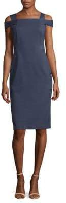 Lafayette 148 New York Cold Shoulder Sheath Dress