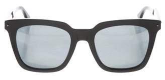 Fendi Logo Mirrored Sunglasses w/ Tags