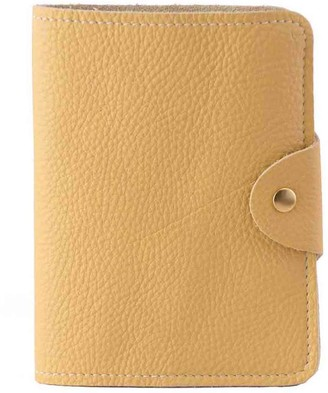 N'damus London Luxury Italian Leather Yellow Passport Cover
