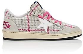 Golden Goose Women's Ball Checked Tweed Sneakers - Pink