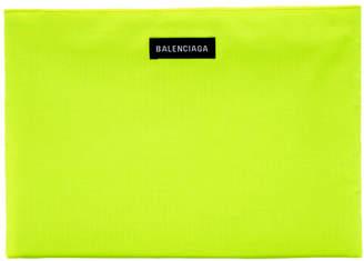 Balenciaga Yellow Explorer Pouch