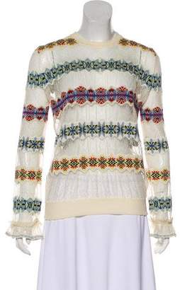 Alexander McQueen Lace-Accented Knit Top