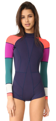 Cynthia Rowley Colorblock Wetsuit $235 thestylecure.com
