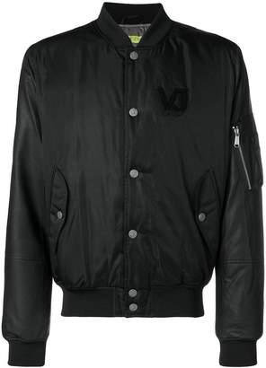 Versace snap fastening bomber jacket