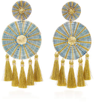 Mercedes Salazar Yui Tasseled Gold-Plated Earrings